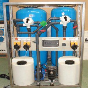 Planta movil para tratamiento agua potable